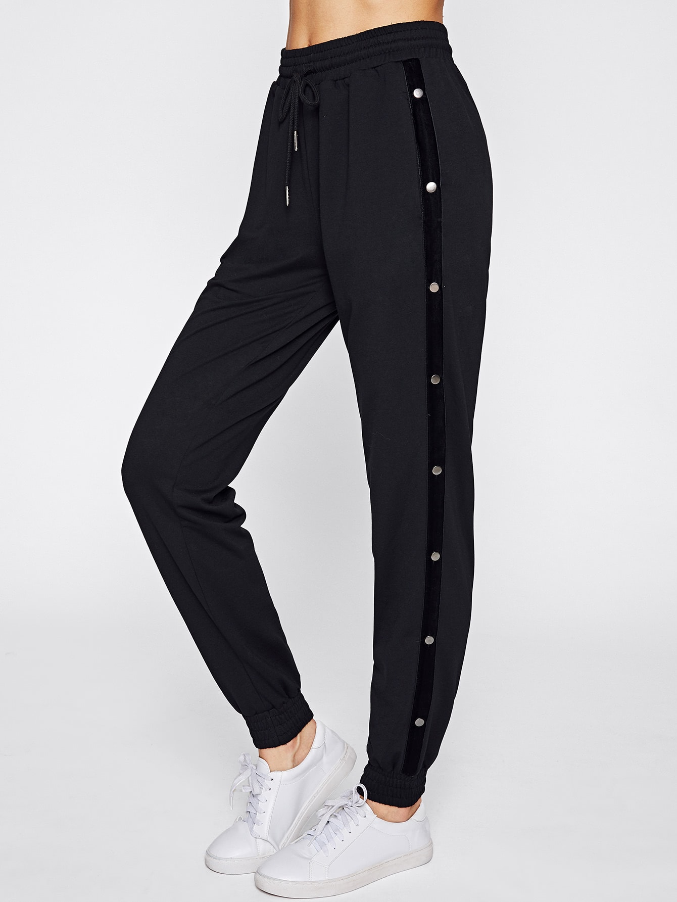 Image of Buttoned Side Sweatpants
