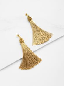 Tassel Statement Drop Earrings