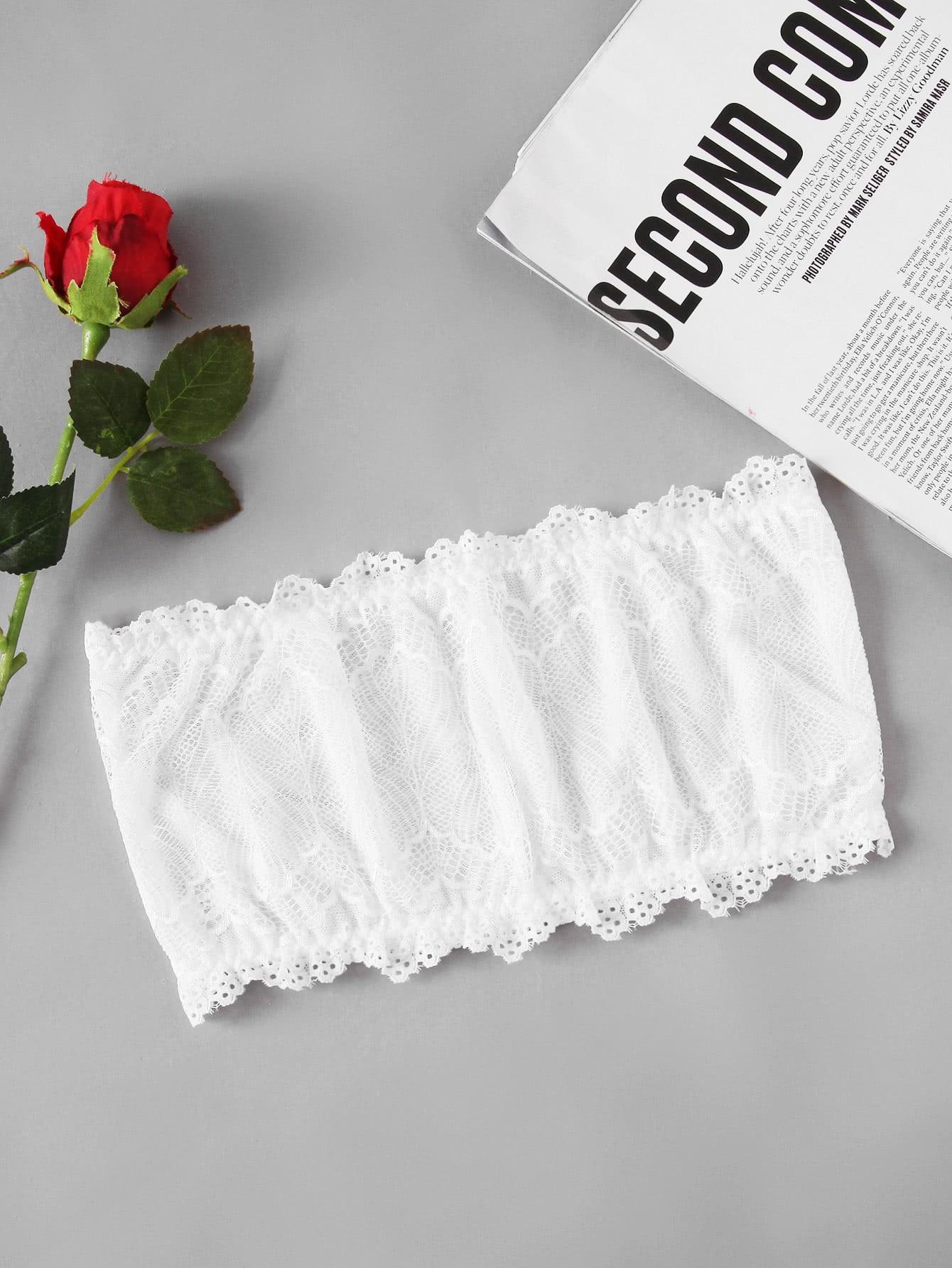 Lace Bandeau Bralette lace longline bralette