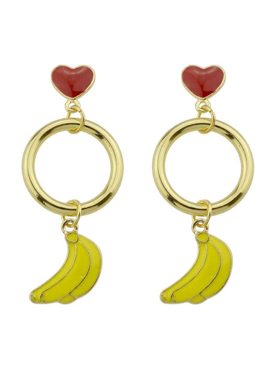Banana Heart Shaped Exquisite Fashion Earrings