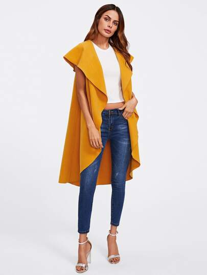 Oversized Shawl Collar Vest