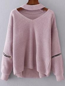 Maglione con collarino