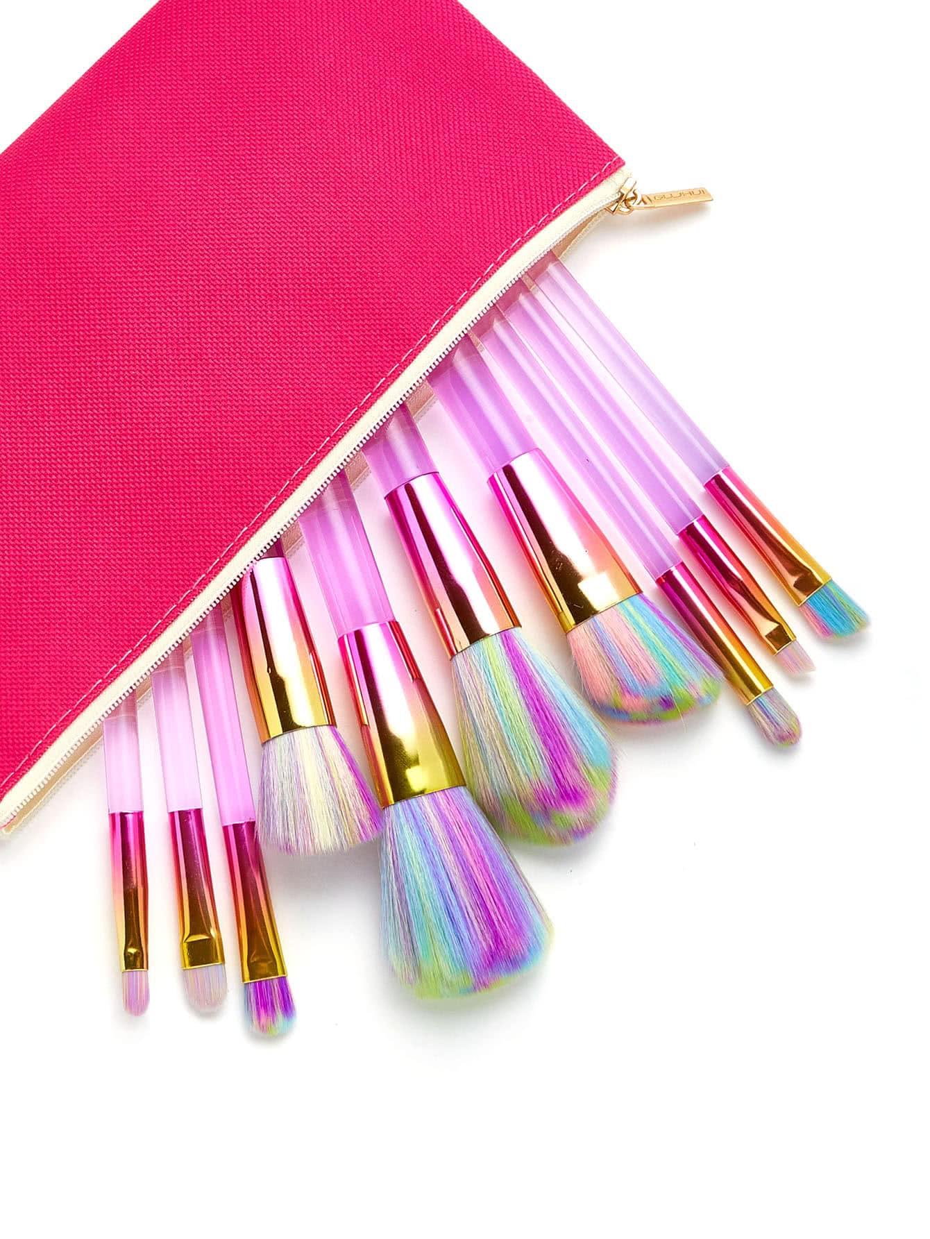 Pastel Makeup Brush 10pcs With Bag