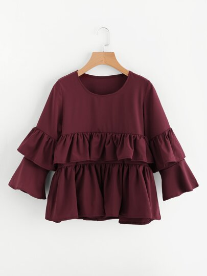 Tiered Frill Layered Blouse