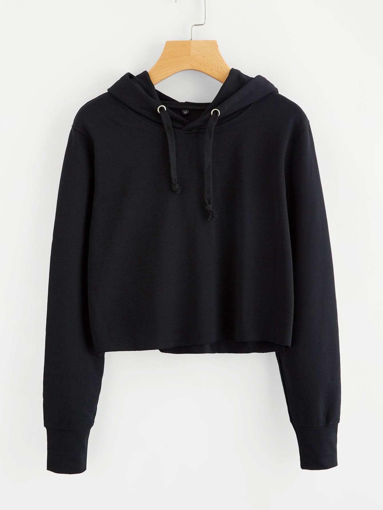 Hooded Drawstring Basic Sweatshirt alien print drop shoulder hooded drawstring sweatshirt