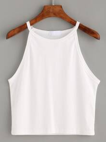 Top cami cuello alto -blanco