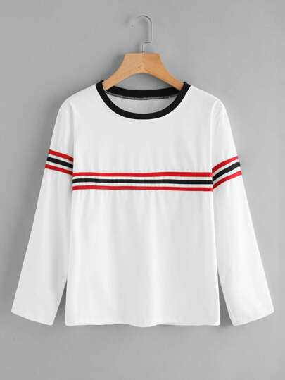 Striped Trim Tee