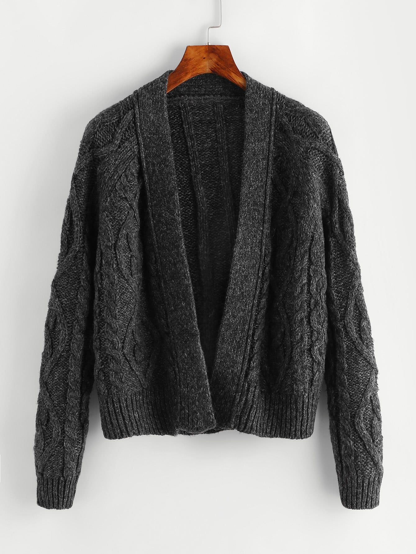 Open Front Ribbed Knit Sweater inc new gray women s size small ps petite open front ribbed cardigan sweater $79