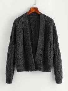 Pull tricoté ouvert avant