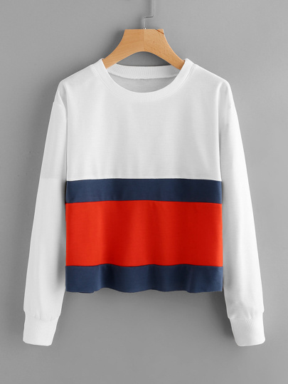 Sudadera de color block