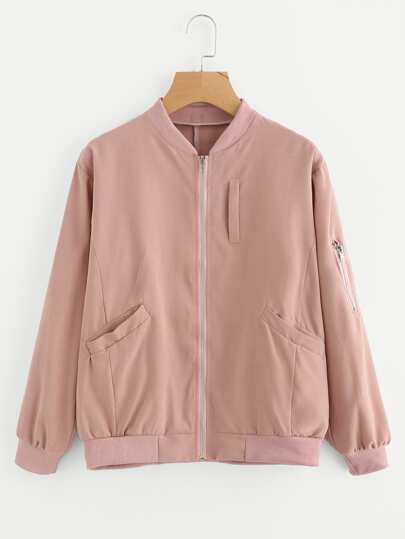 Zip Up Front Jacket