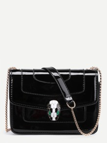 Snake Head Front PU Chain Bag