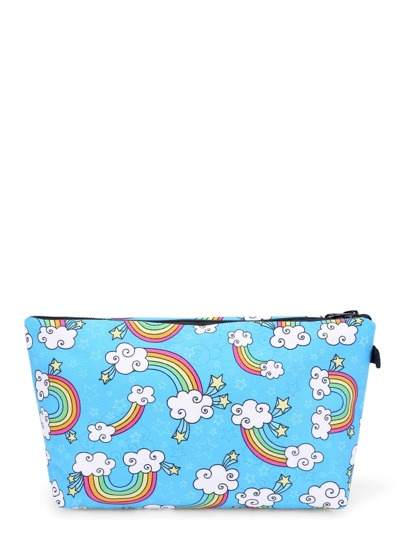 Rainbow & Star Print Makeup Bag
