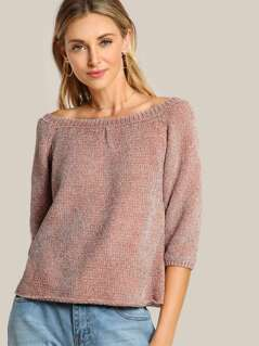 Soft Knit Ribbed Top DUSTY PINK