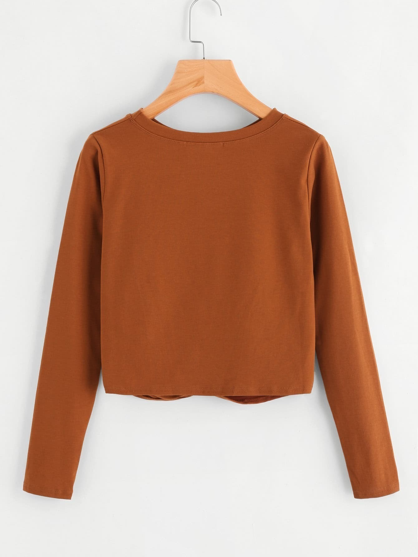 Twist Detail Crop Tshirt