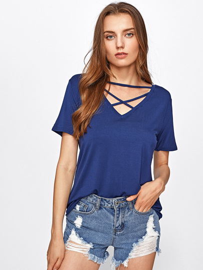 Strappy Neck Tee