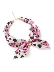 Polka Dot Print Chain Linked Neckerchief