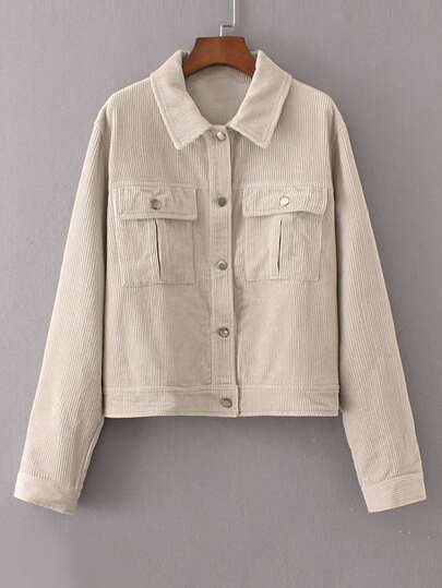 Flap Pocket Corduroy Jacket