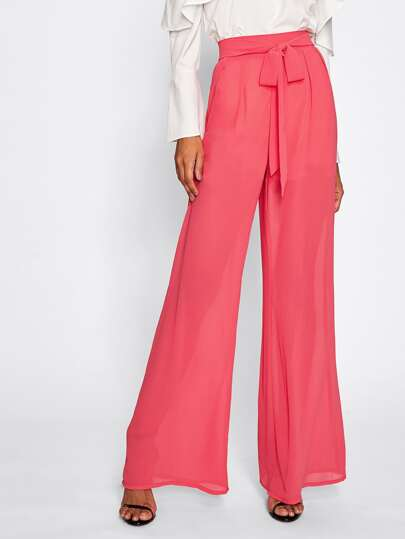 Self Belted Palazzo Pants