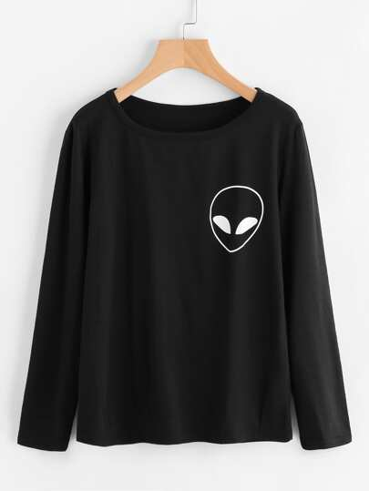 Alien Printed T-shirt