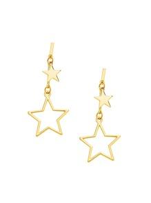 Модные серьги-подвески в форме звёзды