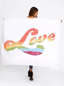 Letter Print Tapestry