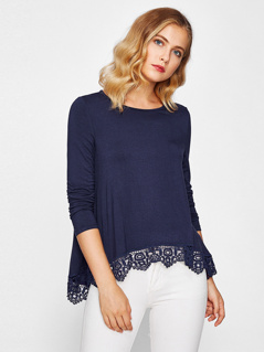 Crochet Dip Hem Top