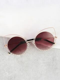 Cat Eye Diamond Sunnies PINK