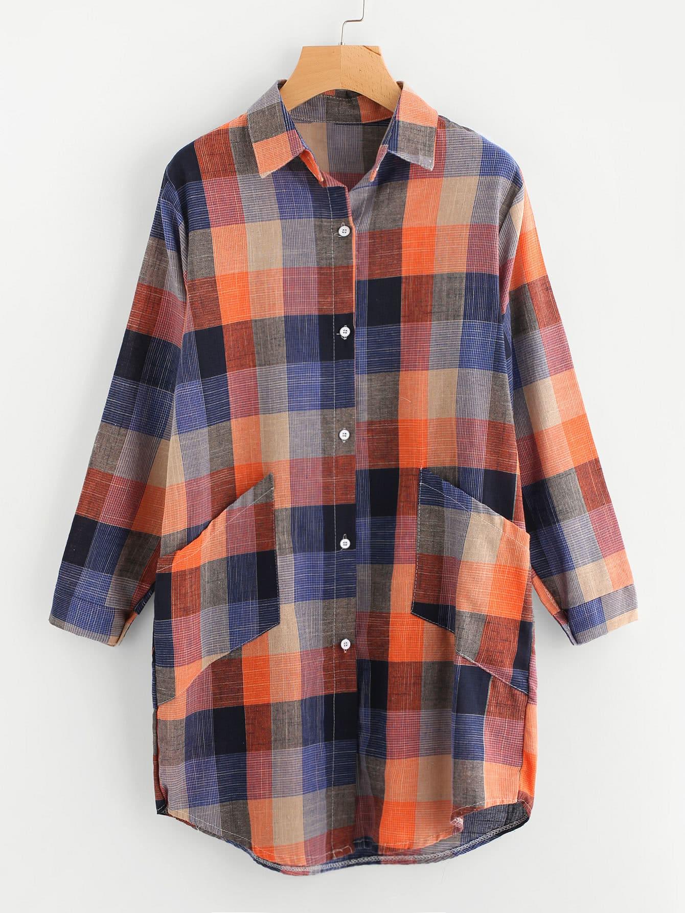 все цены на Multi Checkered Shirt Dress