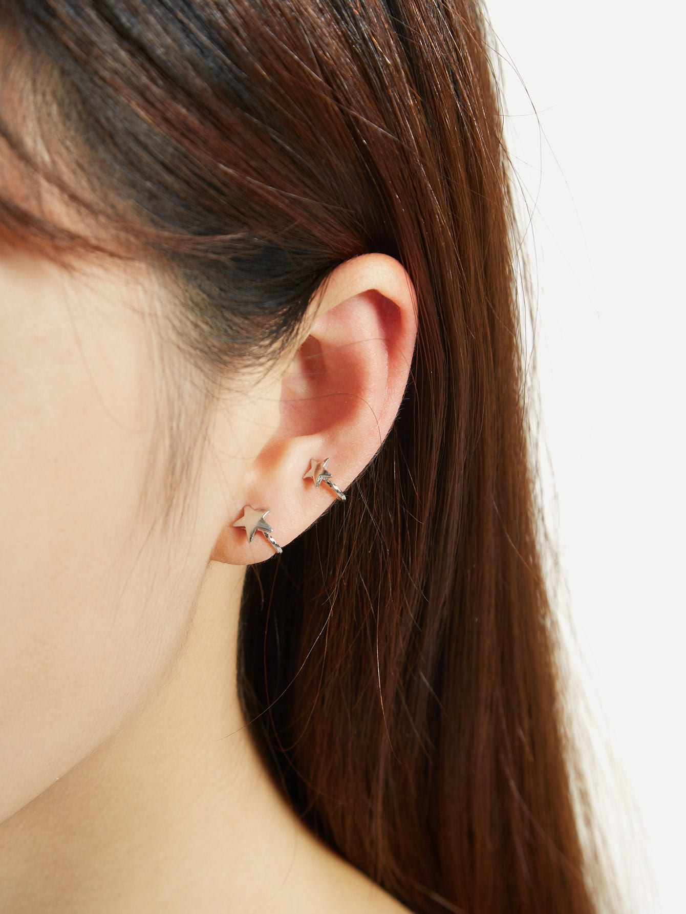 Double Star Design Ear Cuff 1pc 1pc 6ed1053 1fg00 0ba0