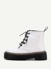 PU Stiefel mit Schnüren