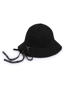 Lace Up Design Bucket Hat