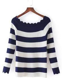 Suéter de rayas zigzag