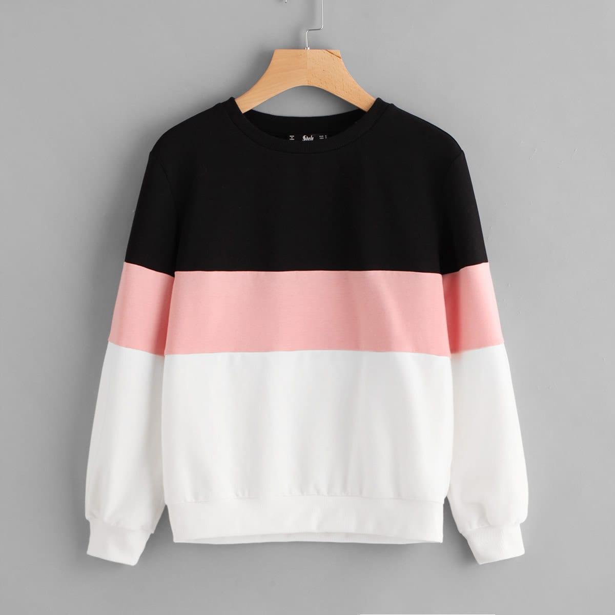 Pullover met color block