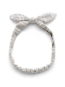 Knot Bow Gingham Print Headband