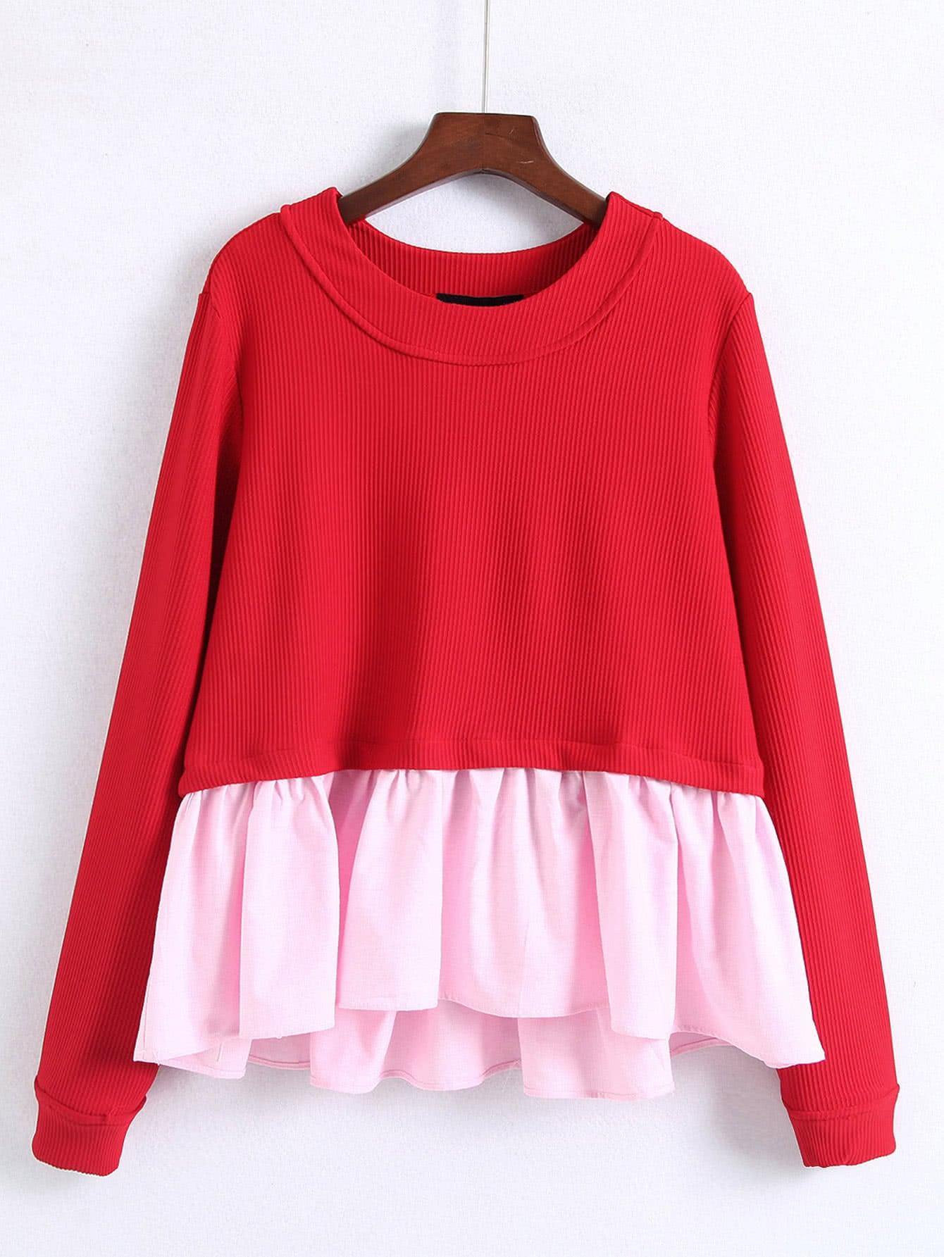 2 In 1 Babydoll Sweatshirt