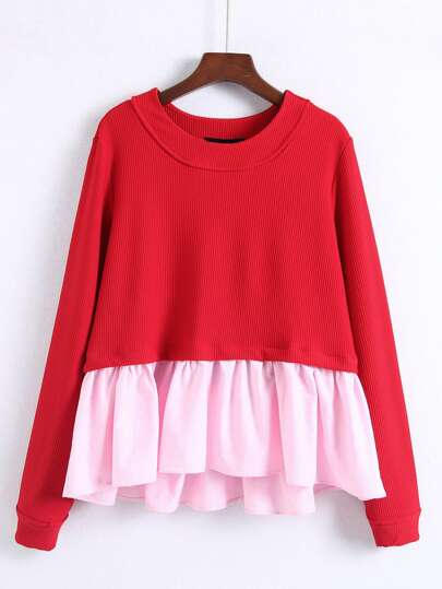 2 In 1 Babydoll Sweatshirt