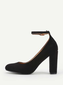 Ankle Strap Block Heeled Shoes