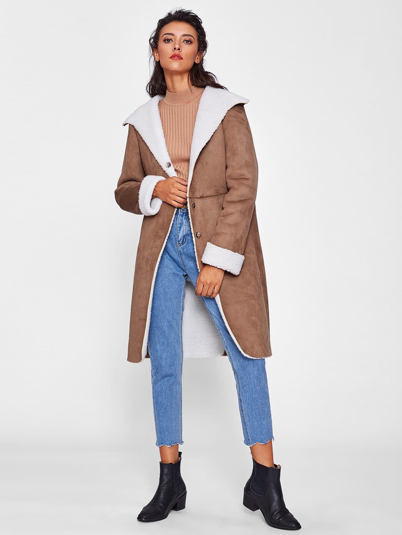 Пальто-дубленка | SheIn