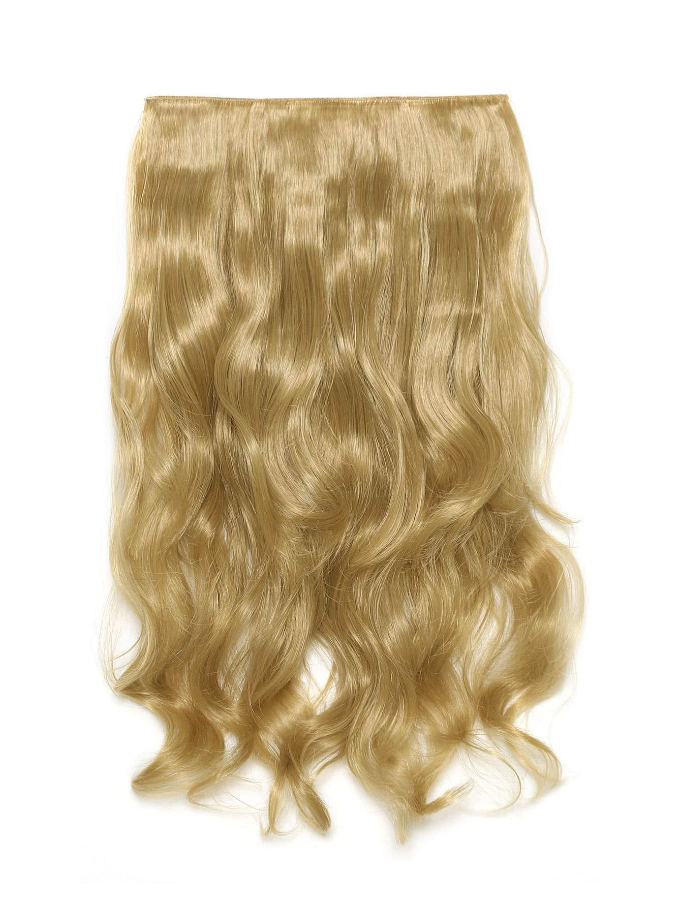 Golden Blonde Clip In Soft Wave Long Hair Extension light blonde clip in soft wave hair extension 5pcs