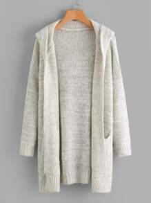 Dual Pocket Hoodie Sweater Coat