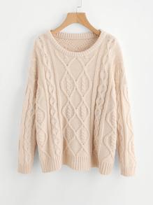 Pull-over en tricot avec la chute de l\'épaule