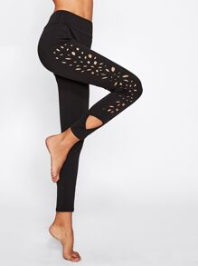 Laser Cut Side Leggings