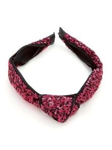 Knot Design Sequin Overlay Headband