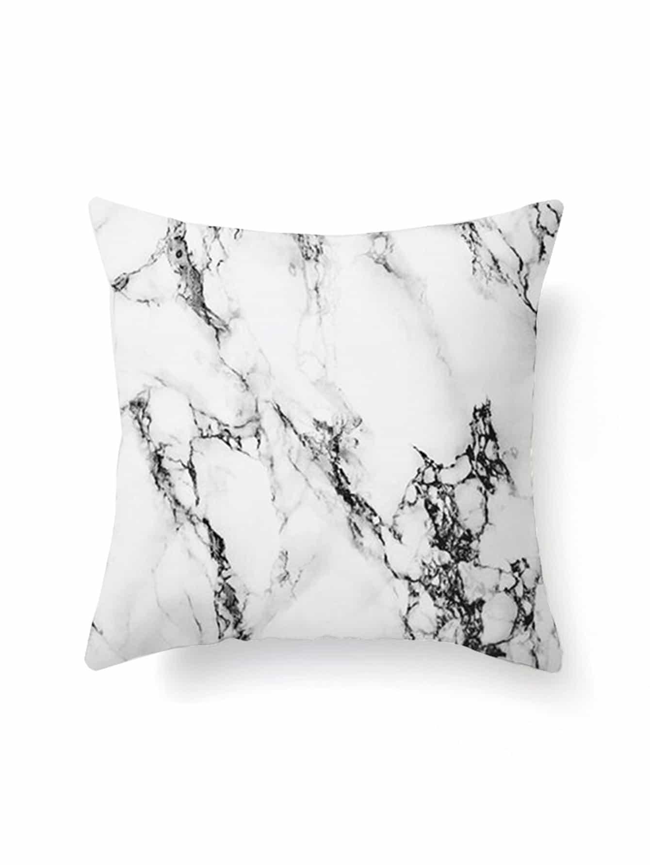 Marble Print Pillowcase Cover