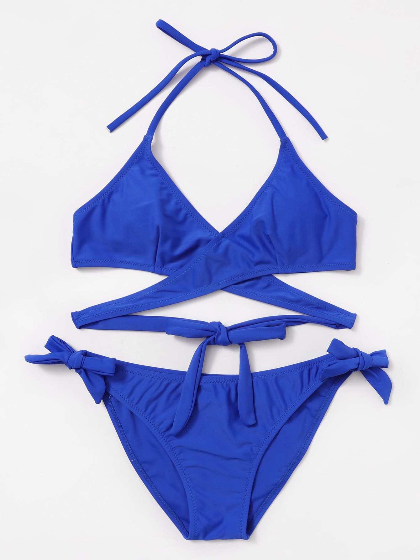 Tie Side Wrap Bikini Set swimwear170821305