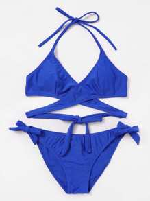Tie Side Wrap Bikini Set
