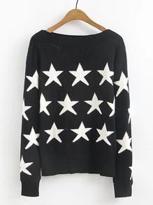 Sweater imprimé des étoiles