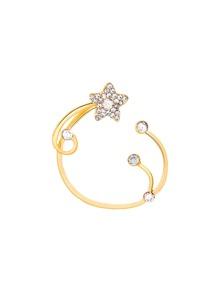 1 pieza de brazalete de oreja con diseño de estrella de pedrería