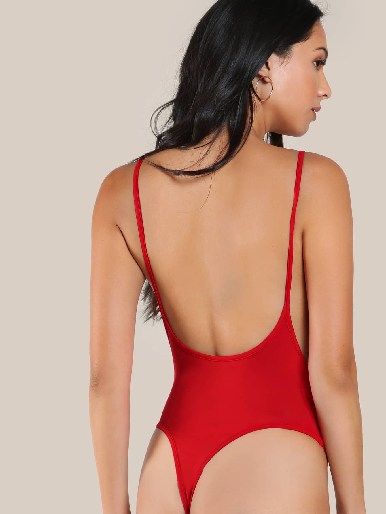 Low Side And Back Cami Bodysuit